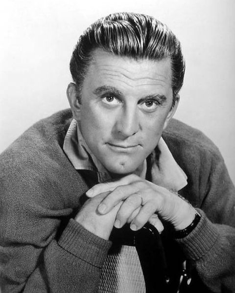 A young Kirk Douglas looking as good as ever in black and white.