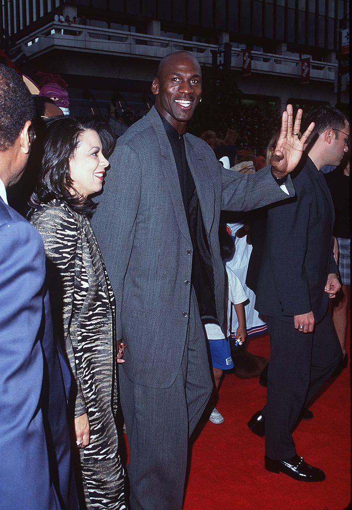 Michael Jordan at the 1996 premiere of Space Jam