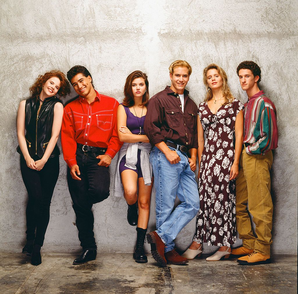 The cast of the Saved By The Bell show