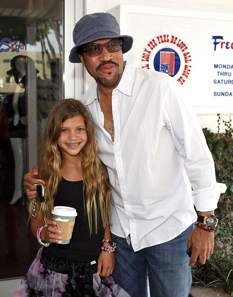 Lionel Richie and Sophia Richie attends the MYZOS Launch Party at Fred Segal on August 22, 2009 in Santa Monica, California