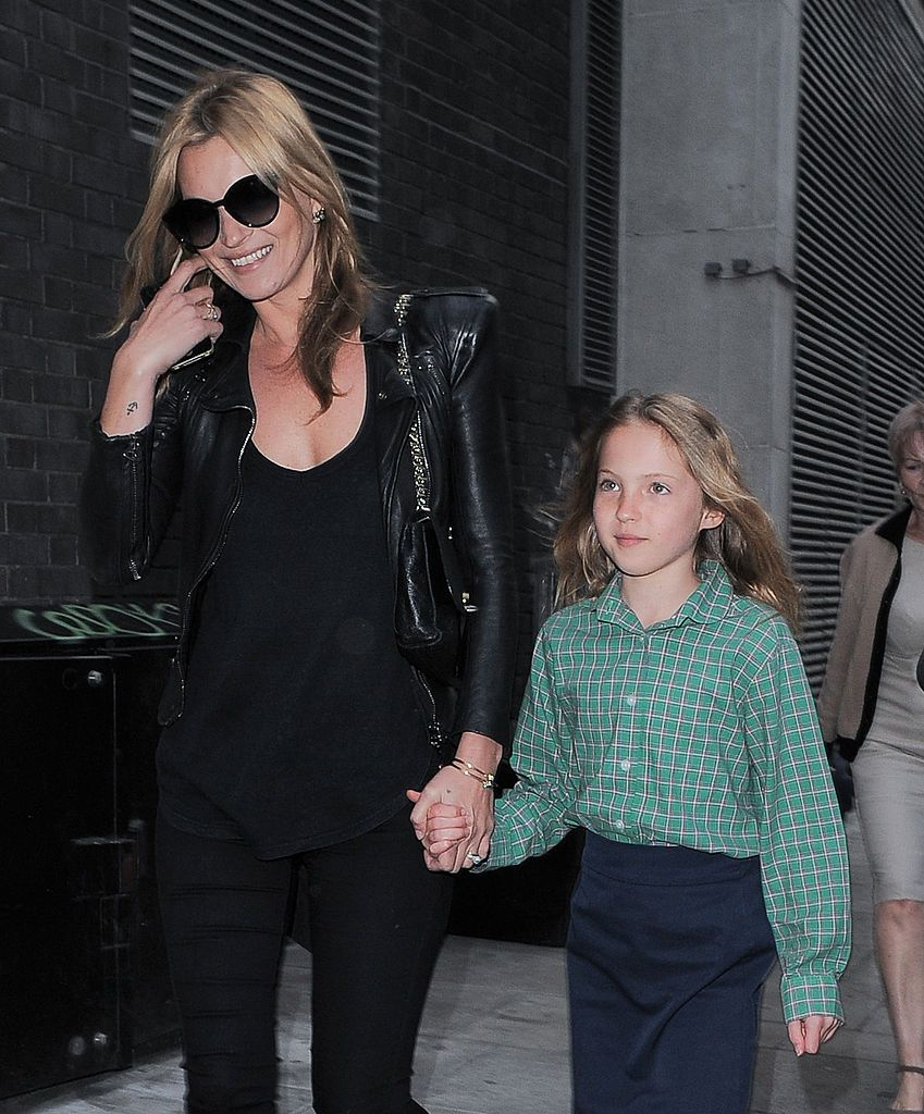Kate Moss and Lila Grace Moss are seen on May 09, 2013 in London, United Kingdom
