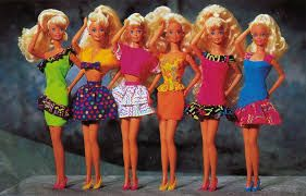 Old school Barbie dolls saluting to their fans in style