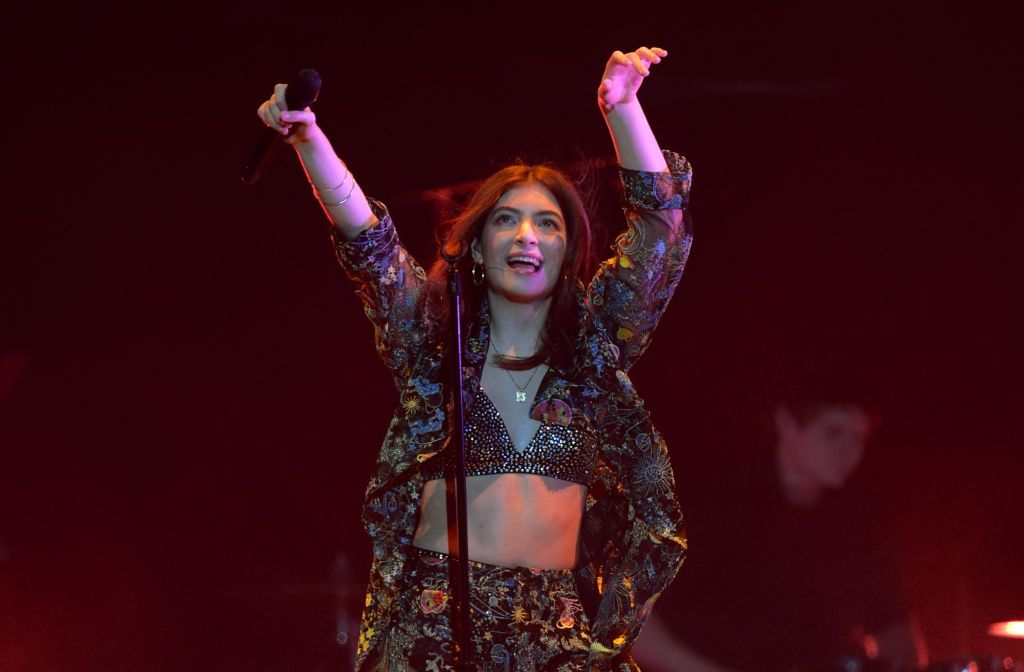 Lorde performs onstage at Staples Center on March 14, 2018 in Los Angeles, California
