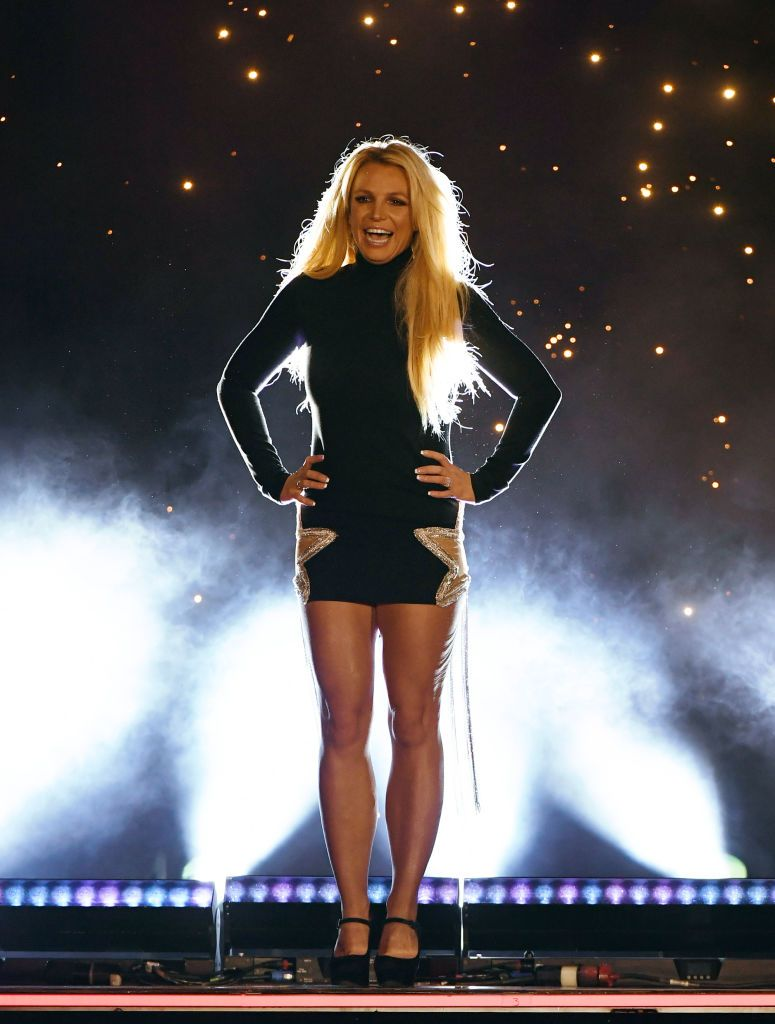 """Singer Britney Spears attends the announcement of her new residency, """"Britney: Domination"""" at Park MGM on October 18, 2018"""