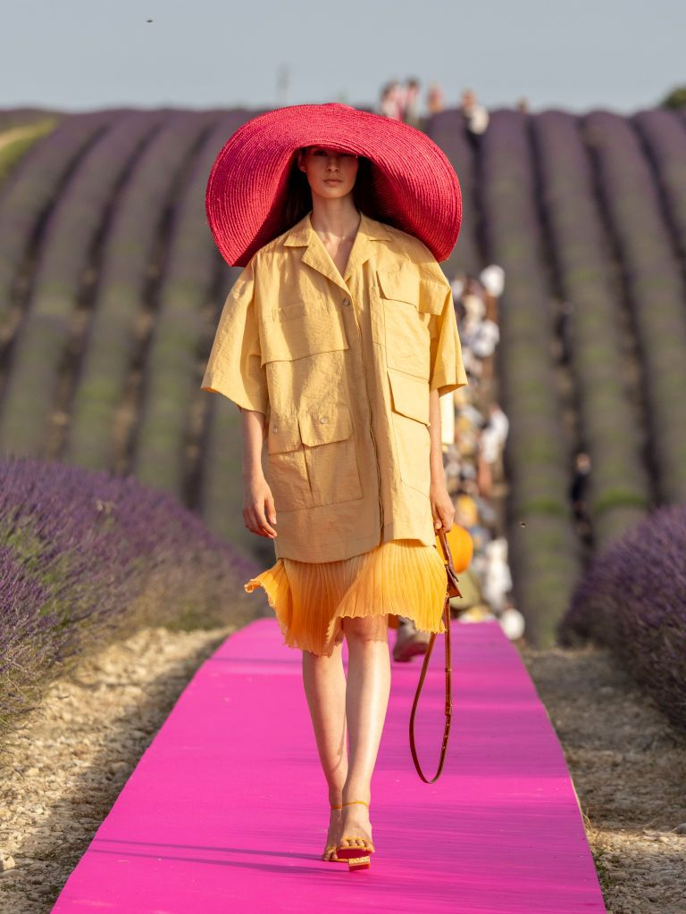 A model walks the runway during the Jacquemus Menswear Spring Summer 2020 show on June 24, 2019 in Valensole, France