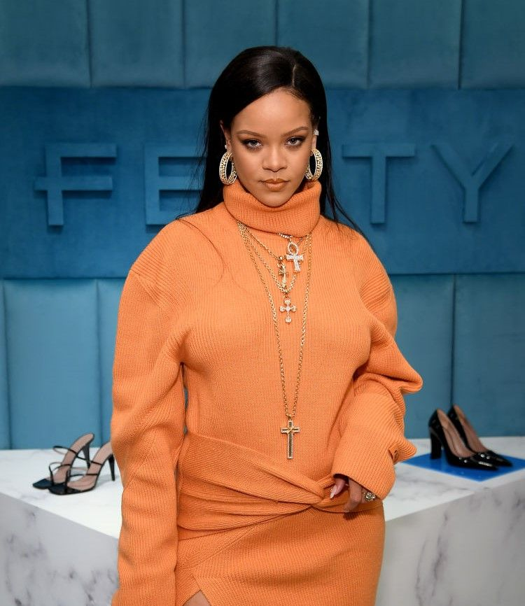 Robyn Rihanna Fenty and Linda Fargo celebrate the launch of FENTY at Bergdorf Goodman at Bergdorf Goodman on February 07, 2020