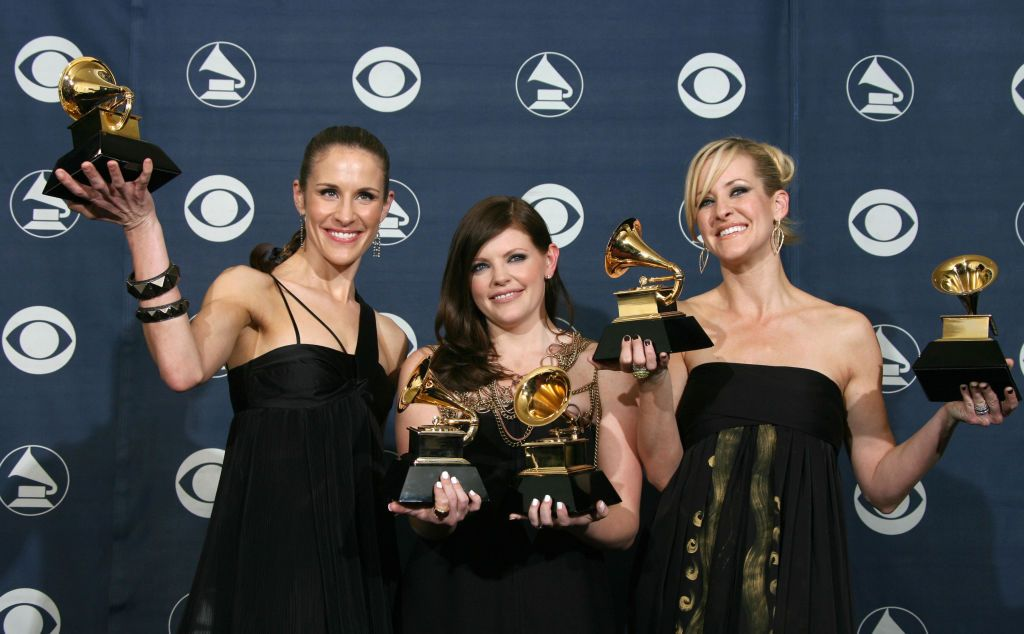 Winners of Best Record of the Year, Best Album of the Year, Best Song of the Year, Best Country Performance By A Duo Or Group With Vocal and Best Country Album, the Dixie Chicks