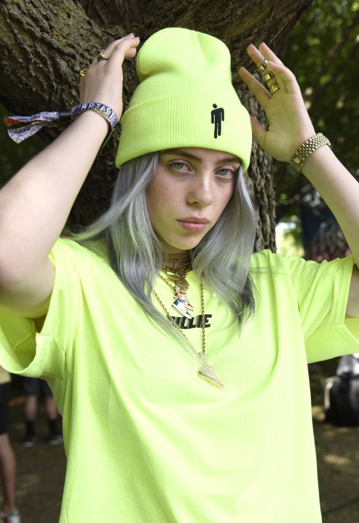 Billie Eilish poses during Lollapalooza 2018 at Grant Park on August 2, 2018 in Chicago, Illinois