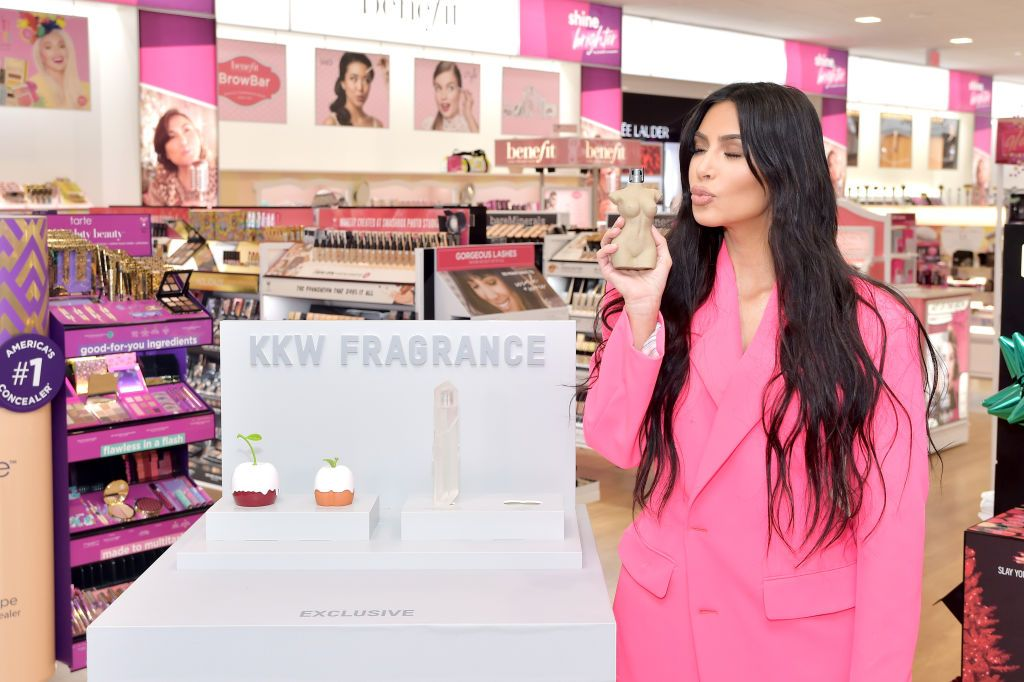 Kim Kardashian West attends KKW Beauty at ULTA Beauty at Courtyard at the Commons