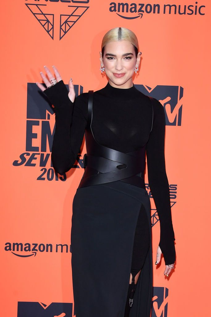 Dua Lipa attends the MTV EMAs 2019 at FIBES Conference and Exhibition Centre on November 03, 2019 in Seville, Spain