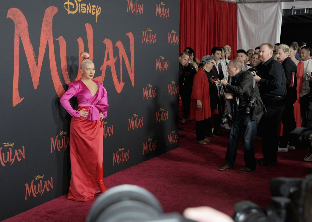 "Christina Aguilera arrives for the Premiere Of Disney's ""Mulan"" held at Dolby Theatre"