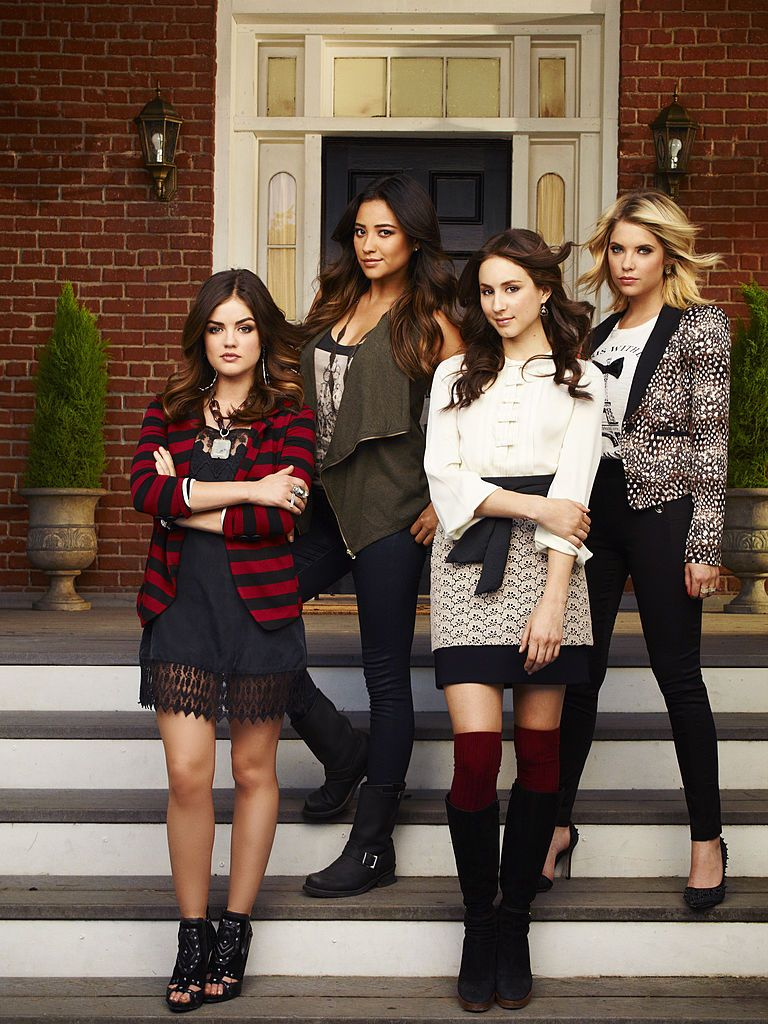 """Pretty Little Liars"" stars Lucy Hale as Aria Montgomery, Shay Mitchell as Emily Fields, Troian Bellisario as Spencer Hastings and Ashley Benson as Hanna Marin"