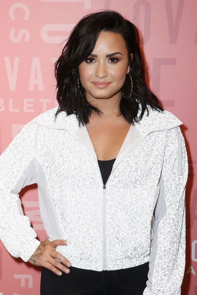 Demi Lovato attends the Demi Lovato visits Fabletics at The Village at Westfield Topanga on May 18, 2018 in Woodland Hills, California