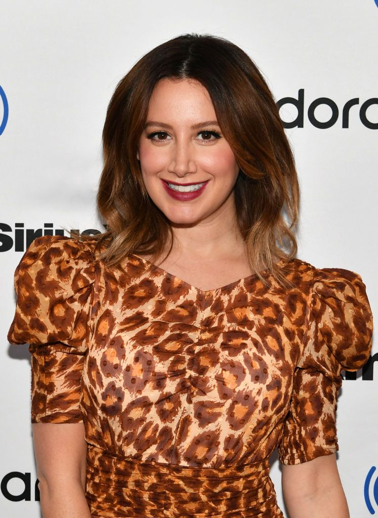 Actress Ashley Tisdale visits SiriusXM Studios on December 02, 2019 in New York City.