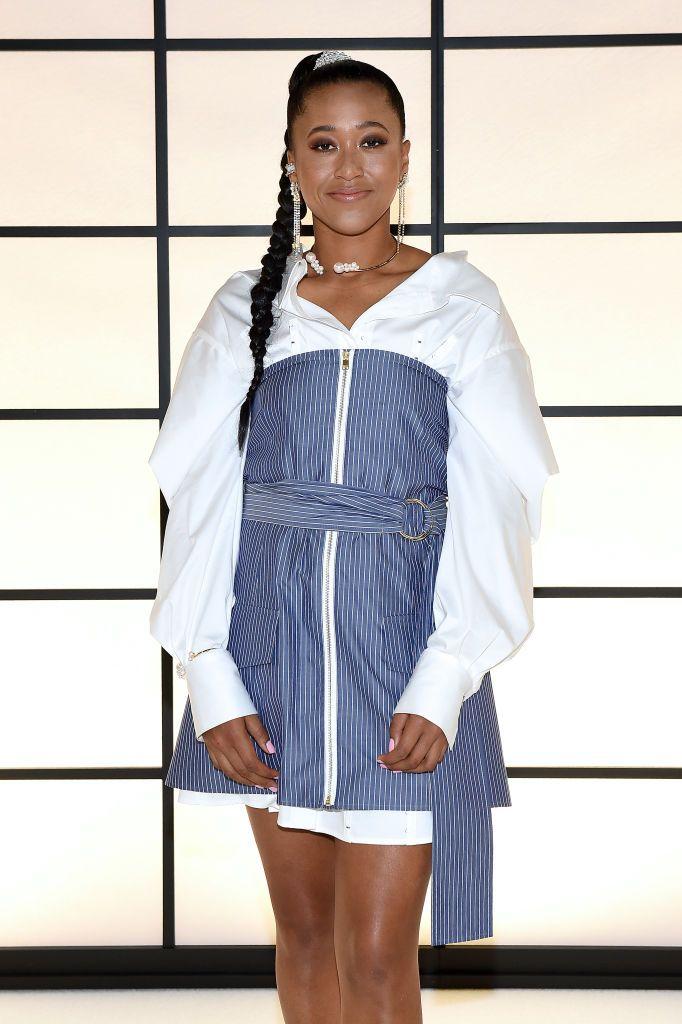 Naomi Osaka attends the ADEAM Fall | Winter 2020 SHOW