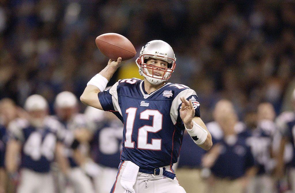 Quarterback Tom Brady of the New England Patriots throws a pass