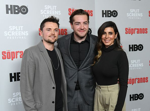 "Robert Iler, Michael Gandolfini and Jamie-Lynn Sigler attend the ""The Sopranos"" 20th Anniversary Panel Discussion at SVA Theater on January 09, 2019"