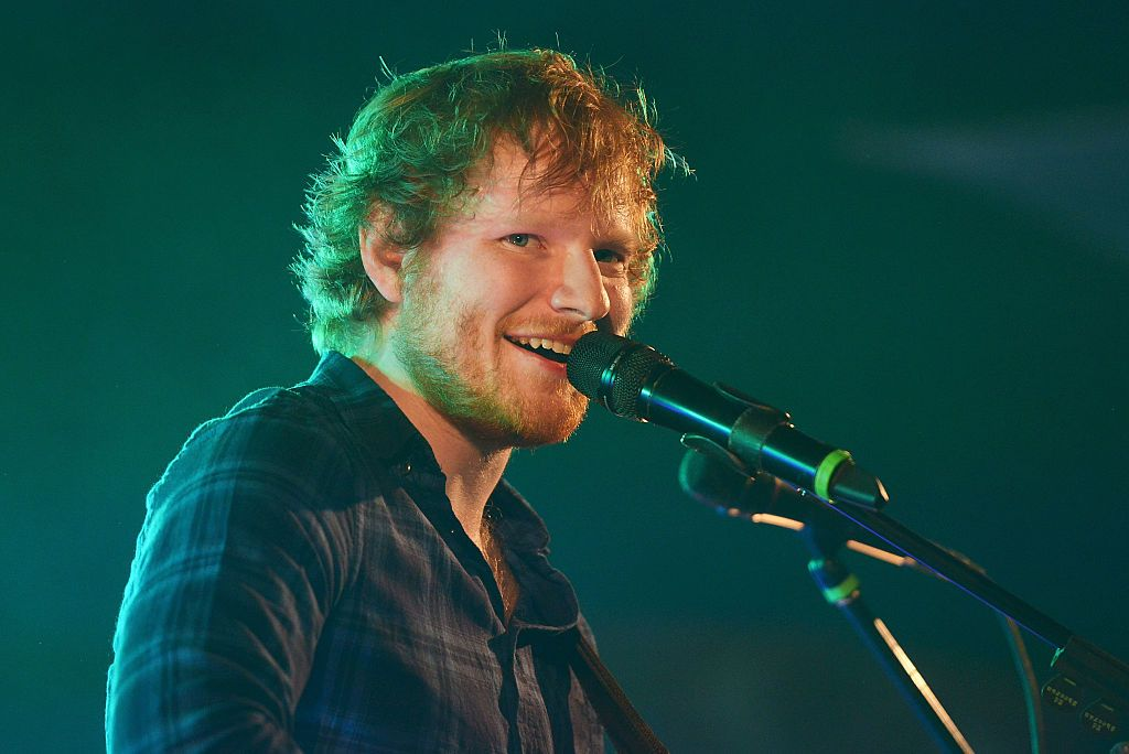 Ed Sheeran performs on 2nd day of Latitude Festival in Henham Park Esate in July 2015 in England