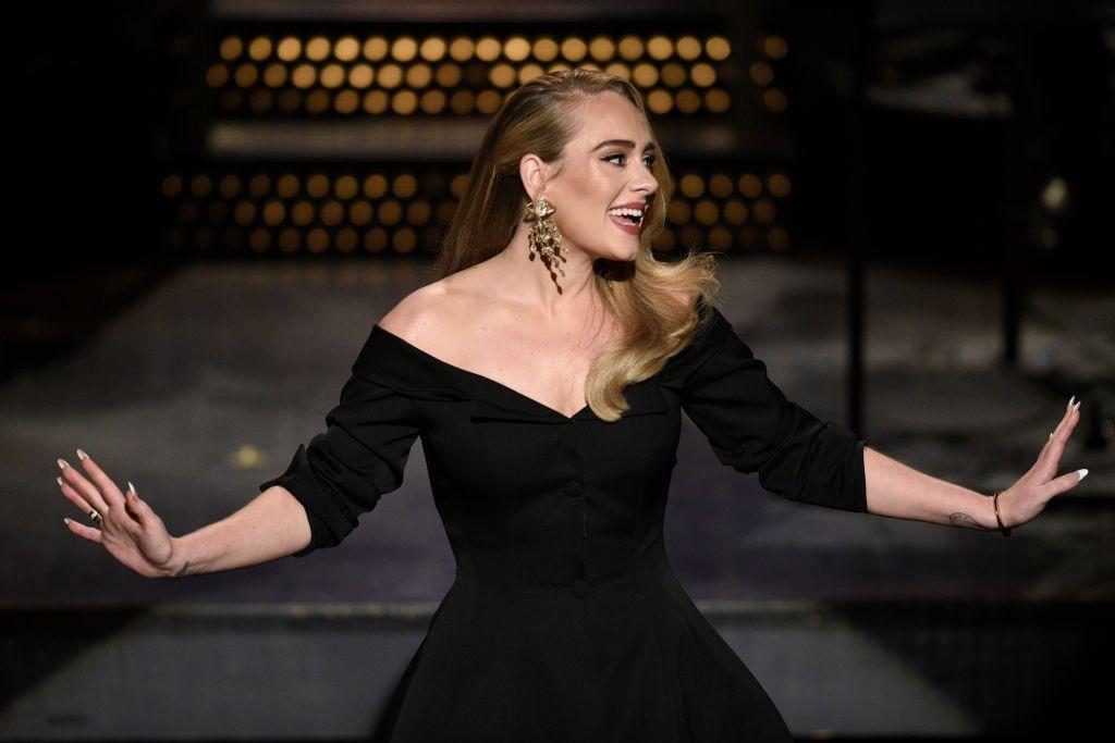Adele hosting SNL giving her monologue in October 2020