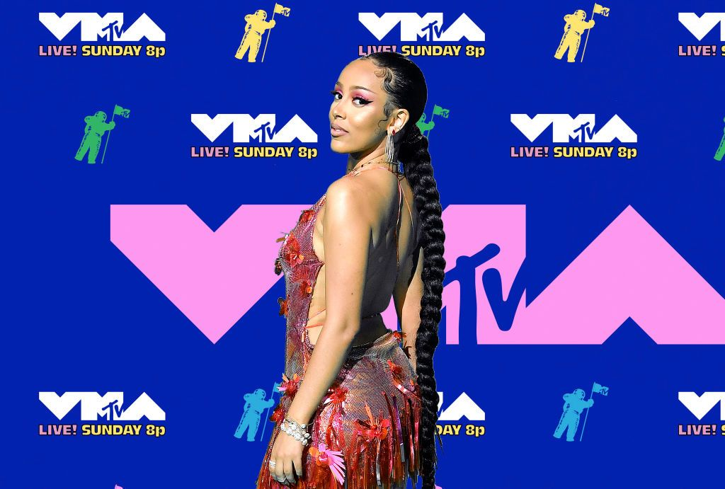 Doja Cat attends the 2020 MTV Video Music Awards, broadcast August 2020 in New York City.