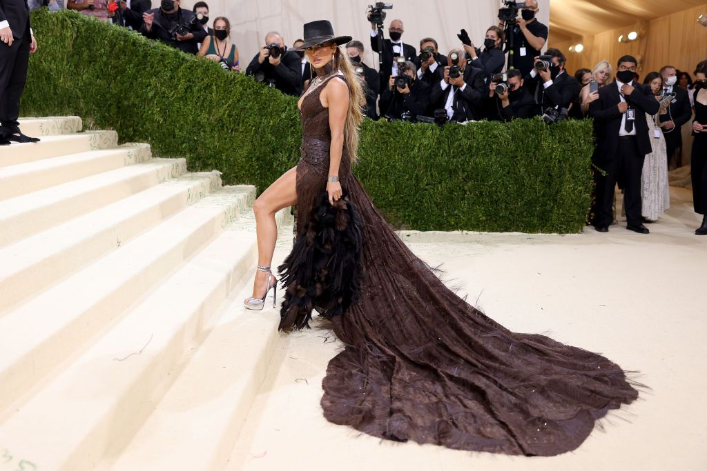 Jennifer Lopez at the 2021 Met Gala in September 2021 in New York