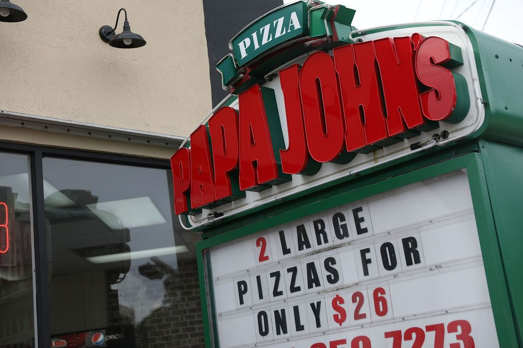 A Papa John's restaurant is seen July 2018 in Florida