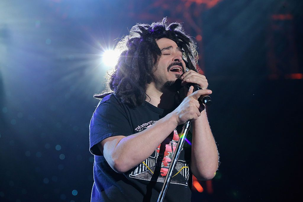 Adam Duritz of Counting Crows performs onstage at the One World Concert at Syracuse University in October 2012 in New York